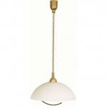 Hanglamp Estella brons glas 1l
